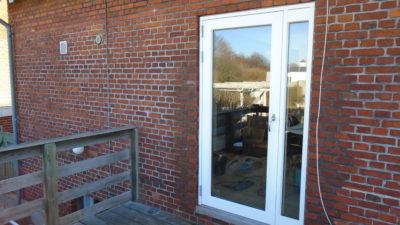 Ny dør mod terrasse