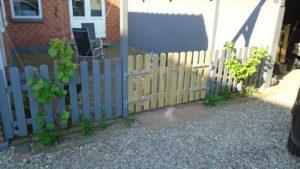 Kunden ønskede en låge der matchede det færdig købte hegn