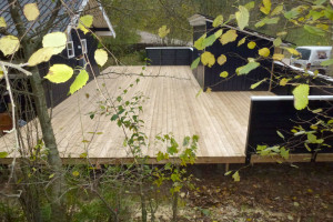 Terrasse set fra skovbrynet