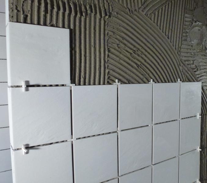 Montering af vægfliser