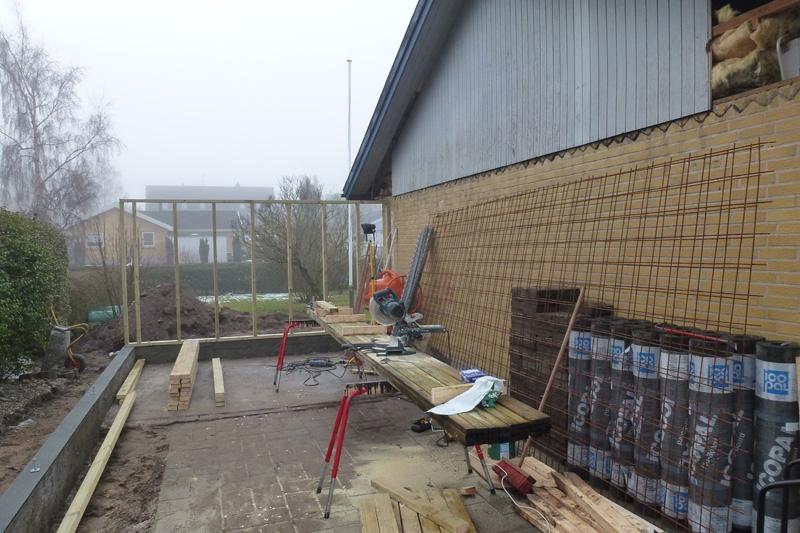 Opstart væg carport