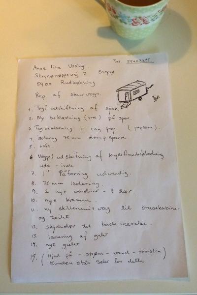 Niels' skitse og noter af projektet