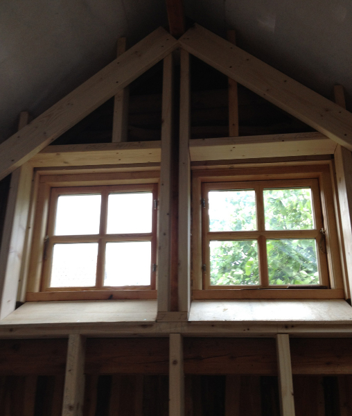 Nye vinduer i gavl
